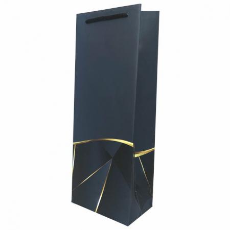 Punga de cadou pentru sticla model elegant bleumarin [0]