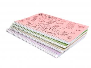 Set 4 bucati Caiet Matematica A4 cu spira dubla, 100 file, coperta carton0