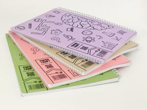 Set 4 bucati Caiet Dictando A4 cu spira dubla, 100 file, coperta carton colorat3