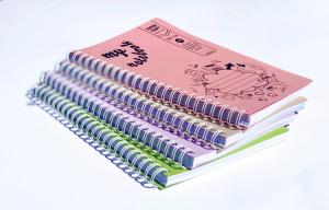 Set 4 bucati Caiet Dictando A5 cu spira dubla, 100 file, coperta carton1