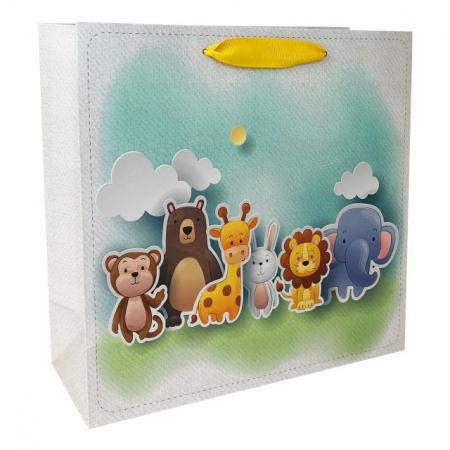 Set 5 pungi de cadou cu model pentru copii, 24x24x10 cm2
