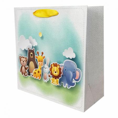 Set 5 pungi de cadou cu model pentru copii, 24x24x10 cm3