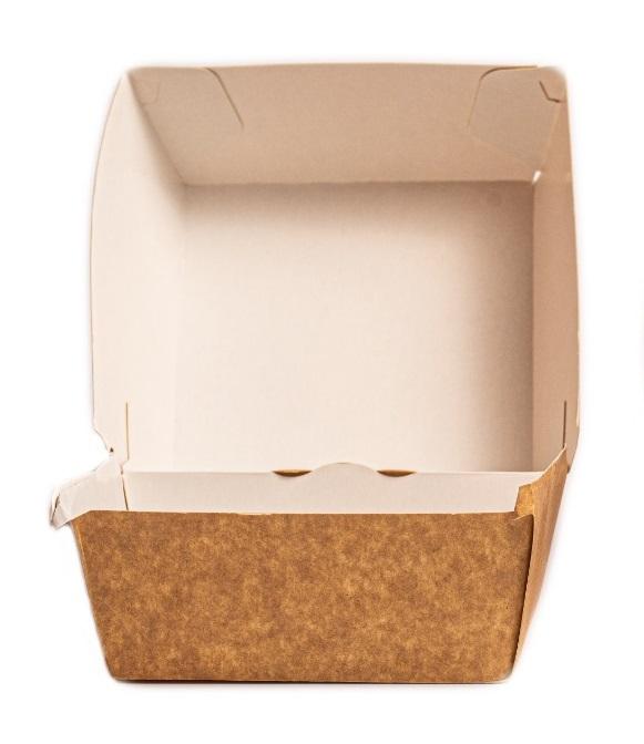 Cutie meniu burger - carton natur 1