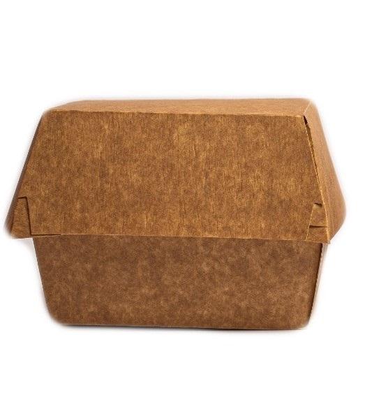 Cutie meniu burger - carton natur 0