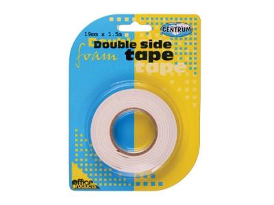 Banda dublu adeziva buretata 19 mm / 1.5 m 0