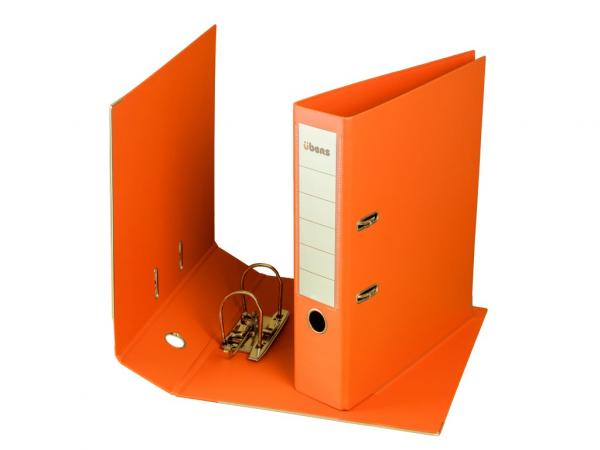 Biblioraft plastifiat übers 75 mm - Portocaliu 0