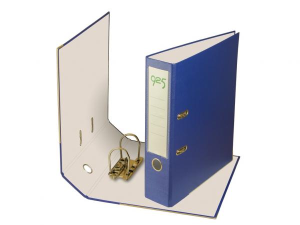 Biblioraft plastifiat 75 mm - Albastru 0