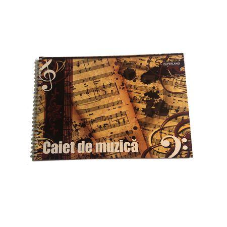 Caiet muzica cu spira, A4 0