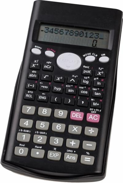 Calculator stiintific cu capac glisant, 12 digits, 240 functii, 2 linii pe display, 160*80*15mm 0