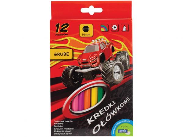 Creioane color Lambo School 12/set, Maxi 0