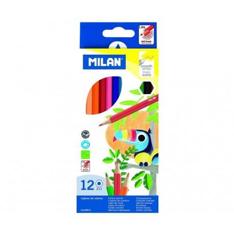 Creion color 12 culori hexagonal Milan 0
