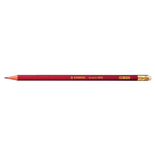 Creion grafic Stabilo cu radiera 0