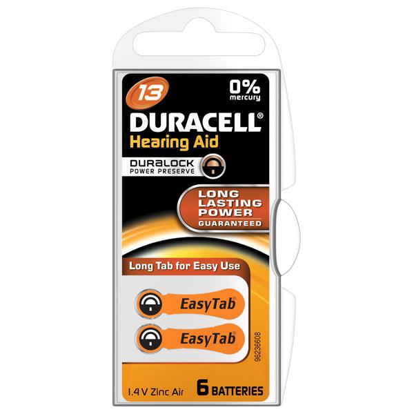 Baterie pentru aparat auditiv DA13,Duracell, 6buc [0]