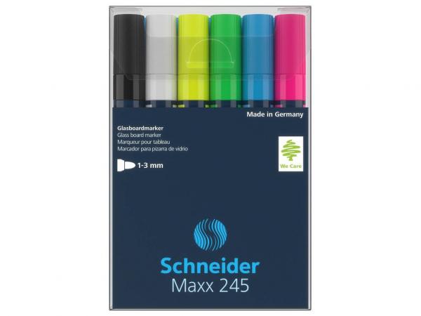 Marker pentru sticla Schneider Maxx 245 6/set 0