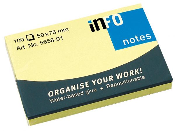 Notes adeziv 50 x 75 mm galben 0