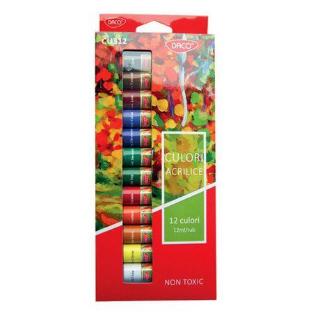 Tempera 12 culori acrilice Daco 0