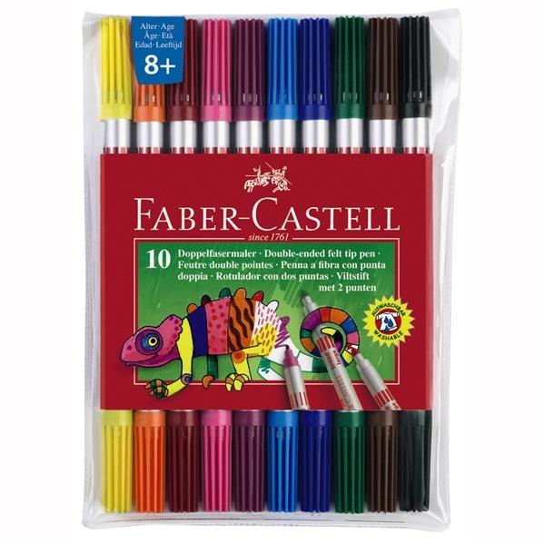 Carioca 10 Culori 2 Capete Faber-Castell 1