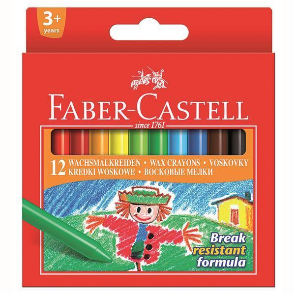 Creioane Cerate Faber-Castell - 12 Culori  0