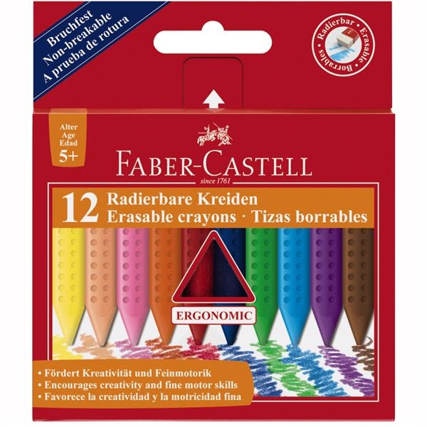 Creioane Colorate Plastic Faber-Castell - 12 culori jumbo 1