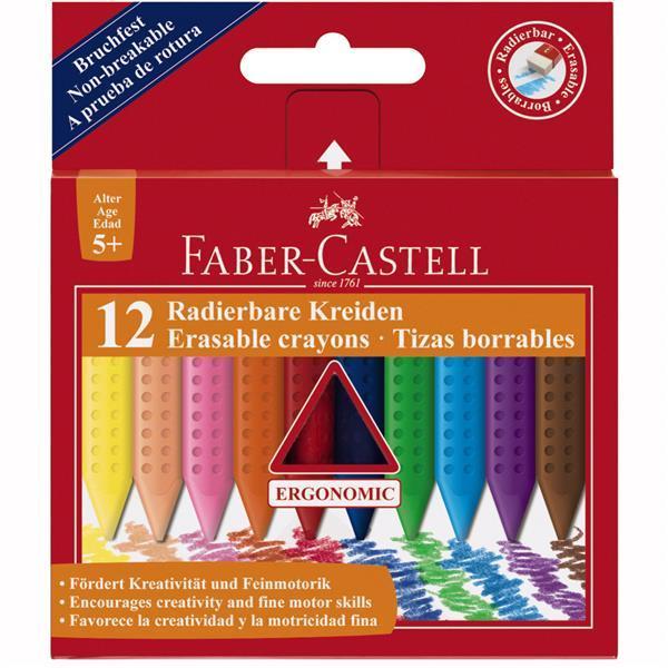 Creioane Colorate Plastic Faber-Castell - 12 culori jumbo 0