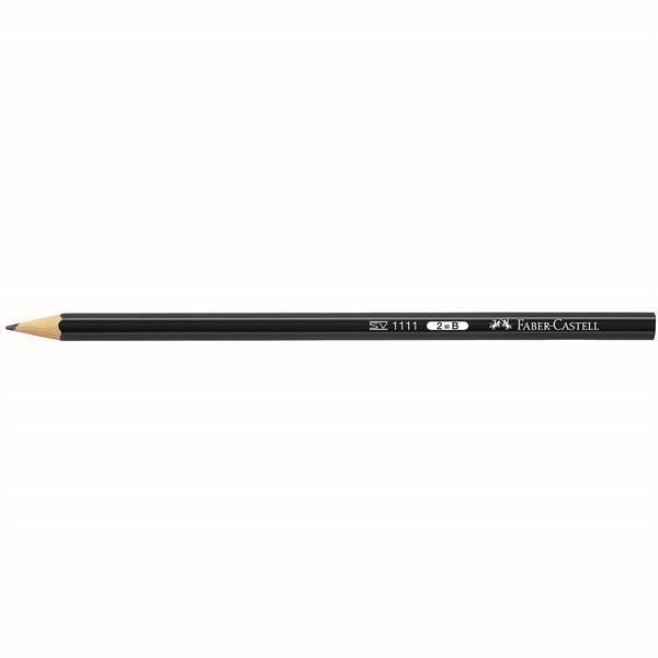 Creion grafit fara guma 1111 Faber-Castell - 2B 0