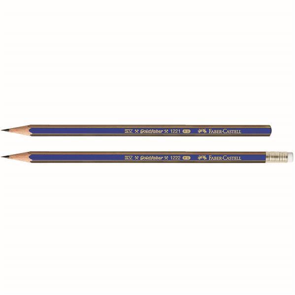 Creion Grafit Cu Guma Goldfaber 1221 Faber-Castell - HB 0