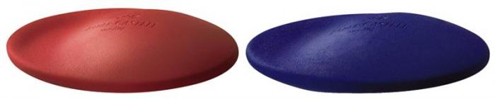 Radiera Creion Cosmo Mini Faber-Castell - rosu/albastra 0