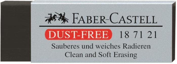 Radiera Creion Dust Free Neagra Faber-Castell 0