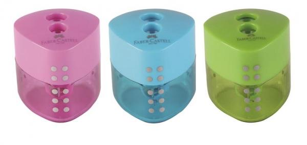 Ascutitoare Plastic Dubla Grip Pastel Faber-Castell 3
