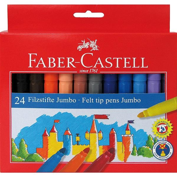 Carioca Jumbo Faber-Castell - 12 culori 2