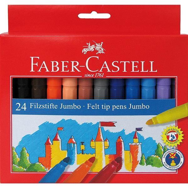 Carioca Jumbo Faber-Castell - 24 culori 2