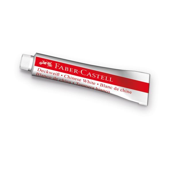 Tempera  Faber-Castell - 7.5 ml, alb 0
