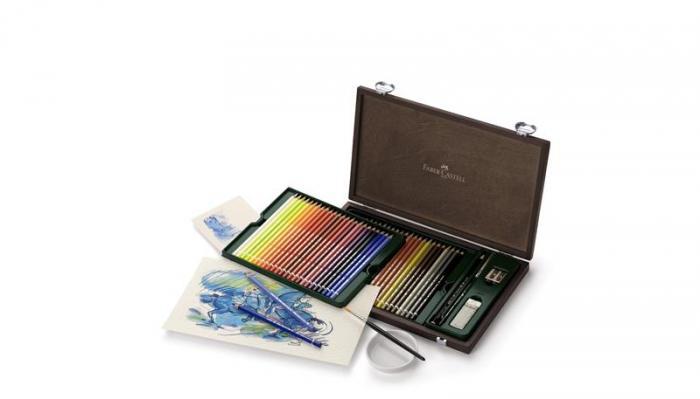 Creioane Colorate Acuarela A.Durer Faber-Castell, 24 culori, cutie metalica 1