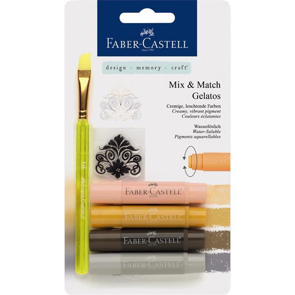 Set 4 Pasteluri Solubile Gelatos Nuante Neutre Faber-Castell 1