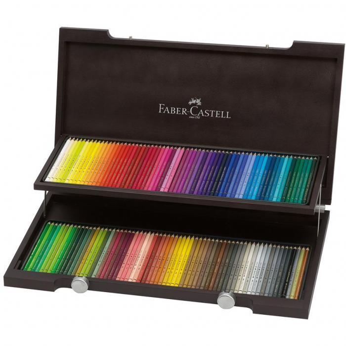Cutie lemn 120 creioane colorate Polychromos Faber-Castell 0
