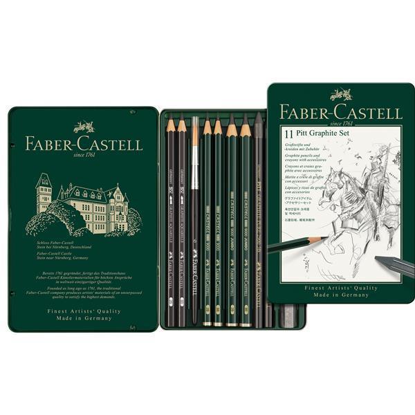 Set Pitt Monochrome Grafit 11 Buc Faber-Castell 0