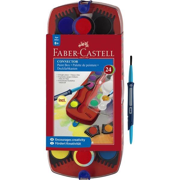 Acuarele Connector Faber-Castell - 24 culori / cutie plastic 2