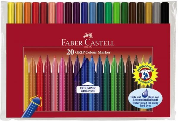 Carioca Grip Faber-Castell - 10 culori/etui plastic 1
