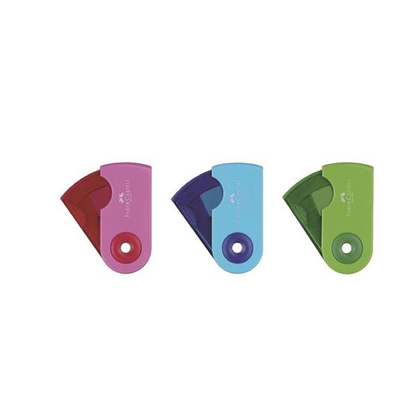 Ascutitoare Plastic Simpla Sleeve-Mini Pastel Faber-Castell 1