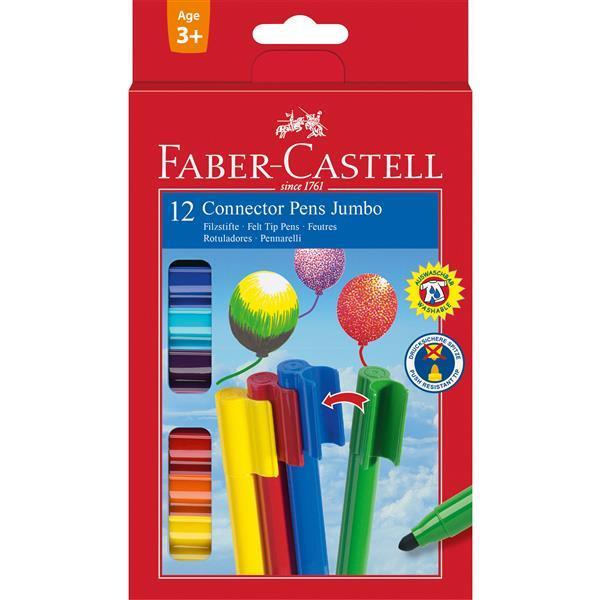 Carioca Connector Jumbo Faber-Castell - 12 culori 0