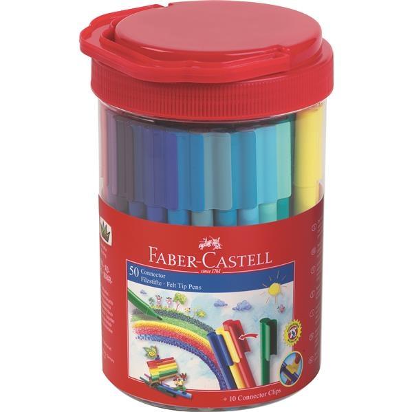 Carioca Connector Faber-Castell - 50 Culori in Borcan  2