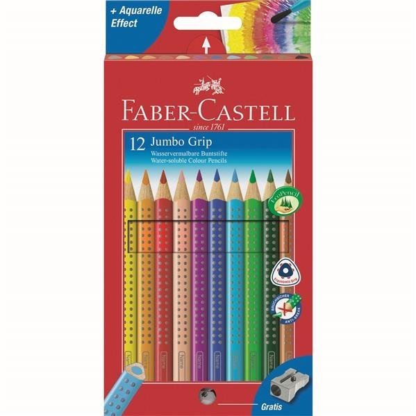 Creioane Colorate Jumbo Grip Faber-Castell - 6 culori 1