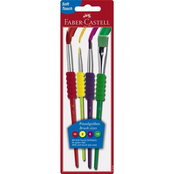 Pensula Soft Touch Set 4 Faber-Castell - 4 buc./set 1