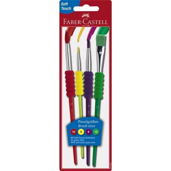 Pensula Soft Touch Set 4 Faber-Castell - 4 buc./set 0