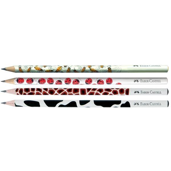 Creion Grafit B Cu Modele Faber-Castell - model buburuza 1