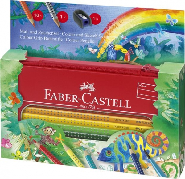 Set Cadou Desen si Pictura Colour Grip Jungle Faber-Castell 1