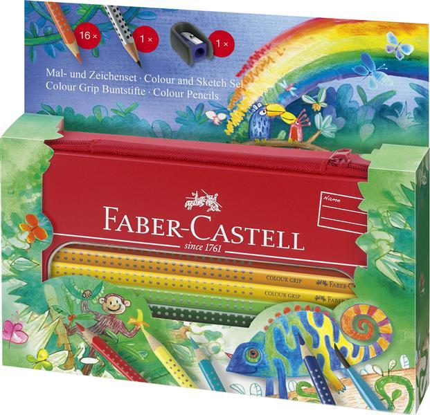 Set Cadou Desen si Pictura Colour Grip Jungle Faber-Castell 0