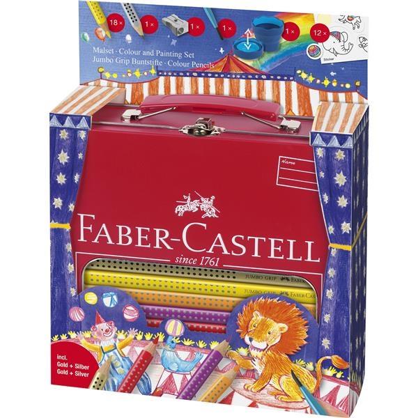 Set Cadou Desen si Pictura Jumbo Grip Circus Faber-Castell 1
