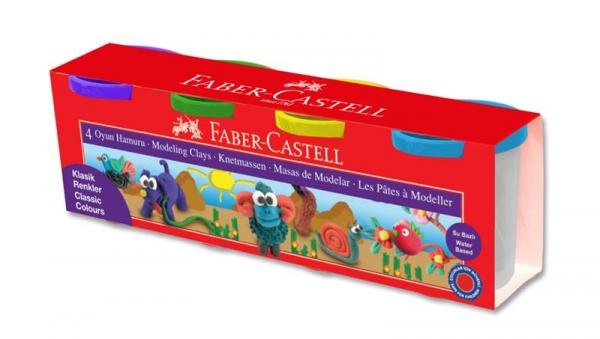 Plastilina 4x130g Culori Clasice Faber-Castell 1