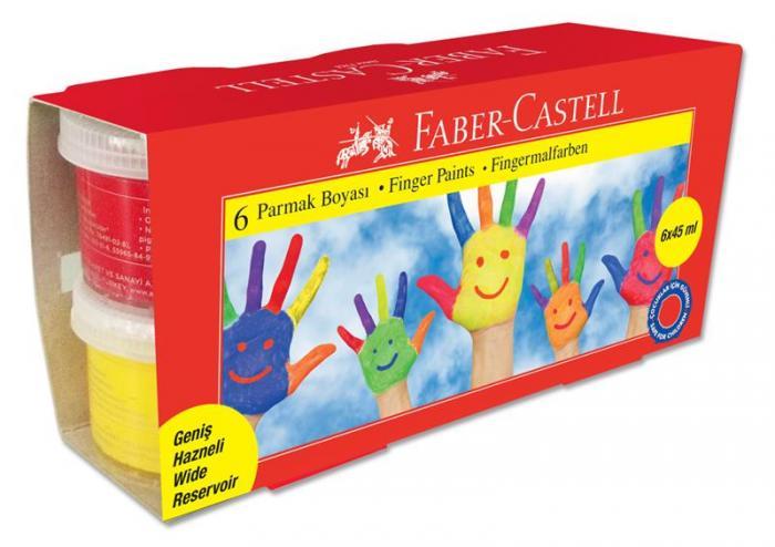 Set Pictura Cu Degetele Faber-Castell - 6 Culori 45ml  0